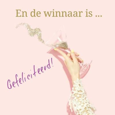En de winnaar is…